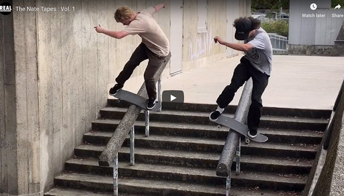 REAL SKATEBOARDS : THE NATE TAPES : VOL. 1 - Supra Dist.